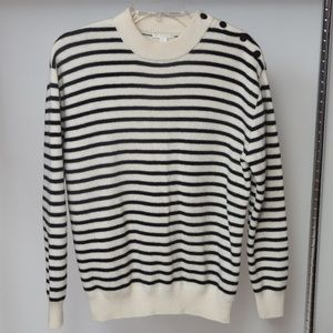 COS Long Sleeve Striped Crew Neck Sweater
